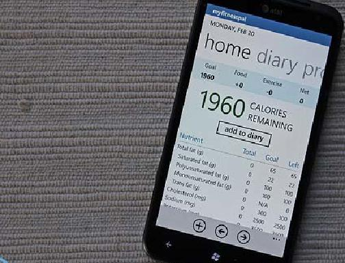 MyFitnessPal для Windows Phone