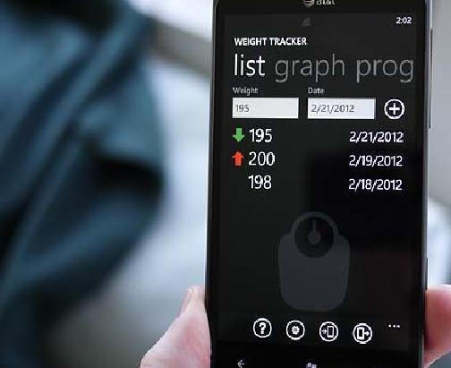 Вес Трекер для Windows Phone