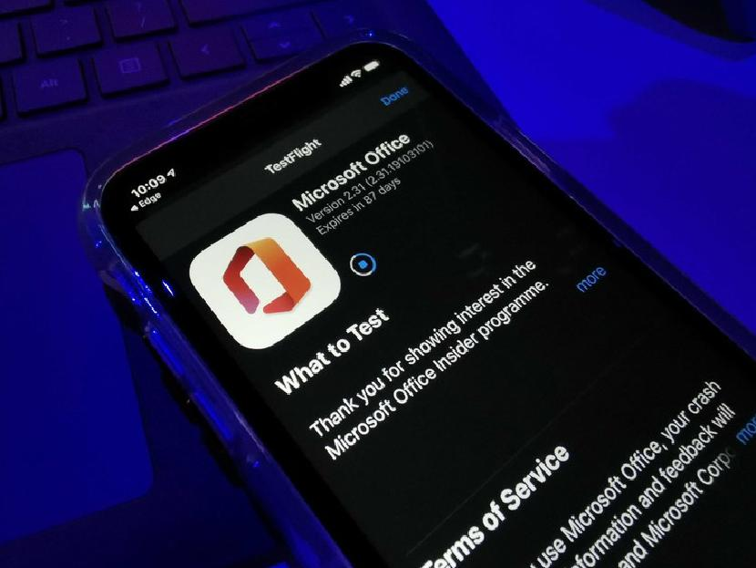 Microsoft Office app in App Store